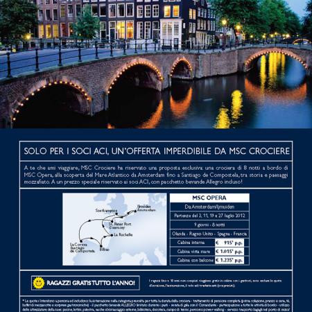 Copywriting pubblicità su rivista per compagnia di navigazione crociere