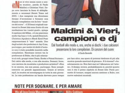Intervista musicale Christian Vieri e Paolo Maldini per la rivista Gioia