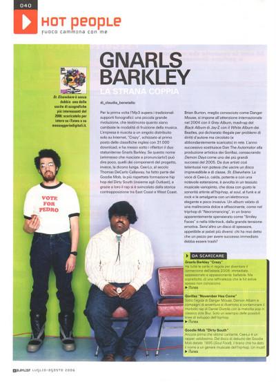 Articolo approfondimento musicale Gnarls Barkley su Playlist
