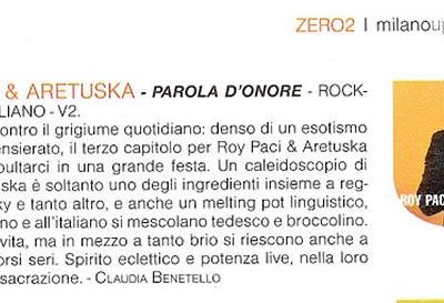 Recensione album Parola d'Onore Roy Paci & Aretuska