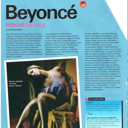 Articolo approfondimento musicale Beyoncé su Playlist