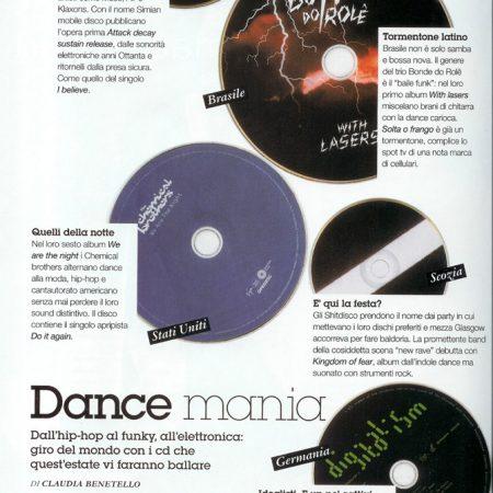 Album dance consigliati, rivista Gioia