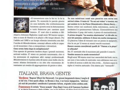 Articolo intervista gruppo musicale Righeira su Gioia