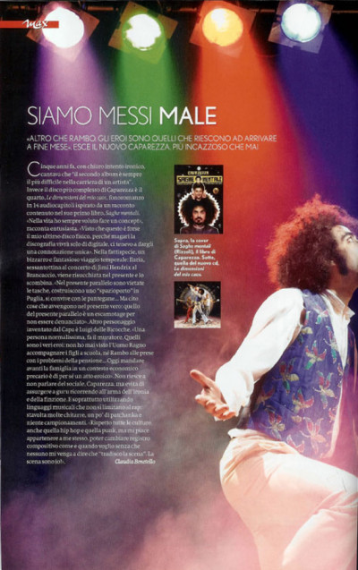 Intervista Caparezza per rivista Max