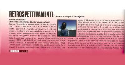Recensione disco Andrea Chimenti su Mucchio Selvaggio