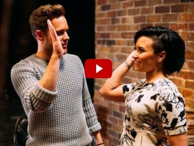 Transcreation backstage video musicale Up Olly Murs ft. Demi Lovato