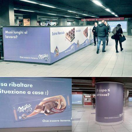 Transcreation inglese italiano affissioni pubblicitarie marchio cioccolato al latte