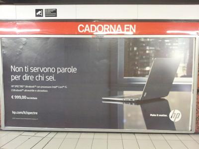 Transcreation affissione pubblicitaria azienda computer