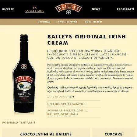 Transcreation testi web marchio liquore crema di whisky
