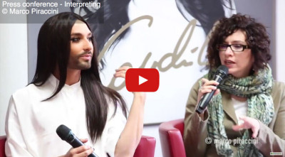 Interprete inglese italiano conferenza stampa Conchita Wurst in Italia