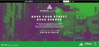 Transcreation landing page sito web azienda abbigliamento sportivo