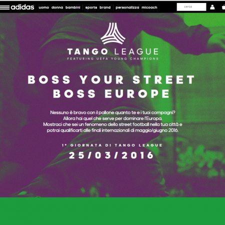 Transcreation landing page sito web azienda abbigliamento sportivo