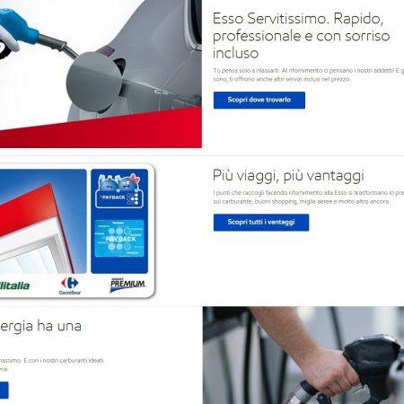 Copywriting testi sito web compagnia petrolifera