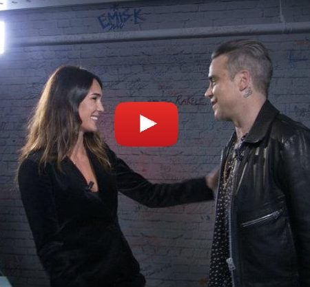 Interprete inglese italiano intervista tv Robbie Williams