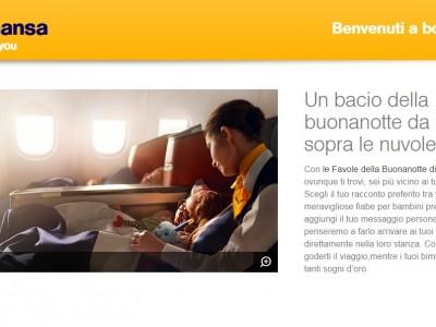Transcreation testi sito web compagnia aerea da inglese a italiano