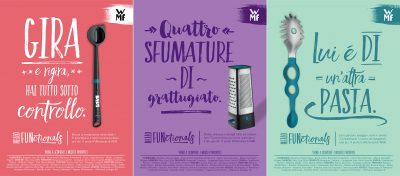 Transcreation tedesco italiano pubblicità cartacea utensili cucina