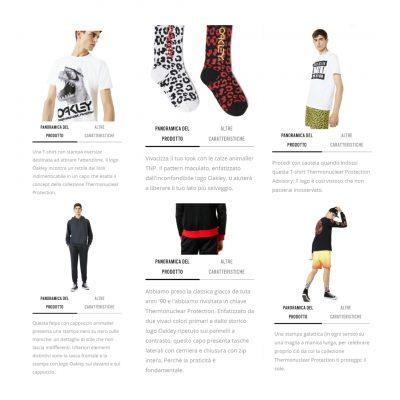 Transcreation testi web azienda abbigliamento